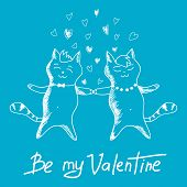 couple cats on Valentine's Day