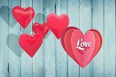 Love heart against wooden planks
