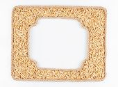 Two Frames Of The Rope With Oats  Grain On A White Background