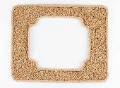 Two Frames Of The Rope With Rye Grain On A White Background