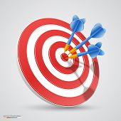 picture of archery  - Target with darts 3d art - JPG