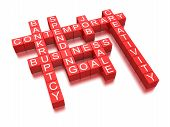 Business crossword (clipping path included)