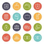 picture of money  - Money and Finance Line Icons Collection - JPG