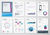 Infographics business brochures for corporate data visualization