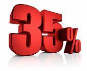 Red 35 Percent
