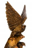 Eagle With Nestling Figurine.