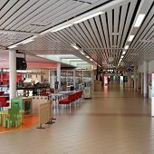 Airport Interior In Sweden