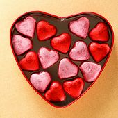 heart box with sweets
