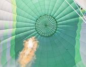 Gas Flame In A Hot Air Balloon In Israel