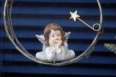 HALLSTATT, AUSTRIA - DECEMBER 13: Angel, Christmas decoration shop on December 13, 2014 in Hallstatt, Austria.