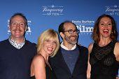 SANTA BARBARA - JAN 29:  Matt Walsh, Morgan Walsh, Brian Huskey, Erinn Hayes at the SBIFF - Cinema Vanguard Award at a Arlington Theater on January 29, 2015 in Santa Barbara, CA
