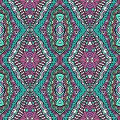 Trendy Colors Ethnic Carpet Seamless Pattern