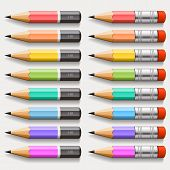 Collection of pencils. Vector