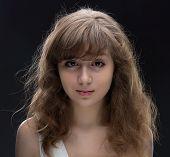 Photo of beauty smiling teenage girl