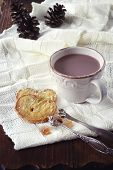 Winter Mood: A Cup Of Hot Chocolate And Cookies