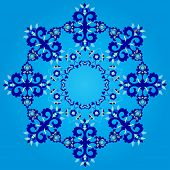 Blue Artistic Ottoman Seamless Pattern Series Sixty Three