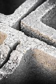 picture of formwork  - a concrete formwork brick close up detail - JPG