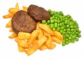 Beef Burger And Chips Meal