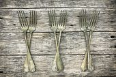 Beautiful Decoration With Antique Forks.