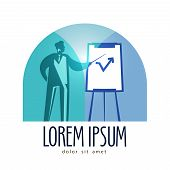 business vector logo design template. presentation or marketing icon.