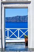 Fira The Capital Of Santorini Island In Greece