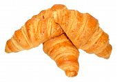 Croissants On White