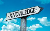 Knowledge sign with sky background