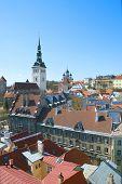 Tallinn. Estonia. Top view of Old Town