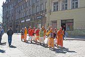 Tallinn. Estonia. Krishna group in Old Town