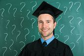 Portrait Of Happy Graduate Man