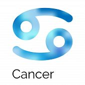Zodiac Symbol Cancer, Vector Sign