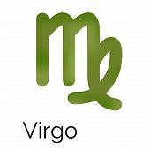 Zodiac Symbol Virgo, Vector Sign