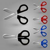 Scissors color set