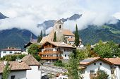 foto of south tyrol  - castle and community Scena in South Tyrol - JPG