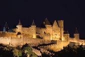 Castle Of Carcassonne At Night