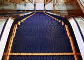 Modern Escalator Inside, Urban Abstract Background