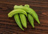 picture of okras  - Asian vegetable  - JPG