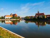 Wroclaw panorama at river Oder