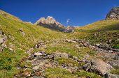 pic of shan  - Water stream in mountain range Tien - JPG