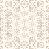 Green Sweet Vintage Flower And Rectangle Pattern On Pastel Background