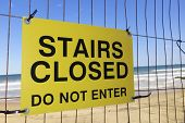 Stairs Closed Sign