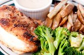 Crispy Skinned Roast Chicken Breast With Dipping Sauce
