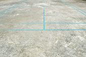 Overlapped Lines In Concrete Court