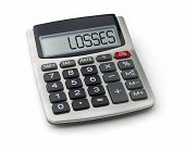 Calculator with the word losses on the display