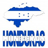 Honduras map flag and text illustration