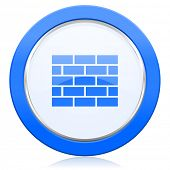 firewall icon brick wall sign