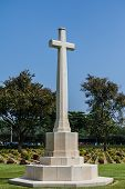 stock photo of cemetery  - Allied War Cemetery at  Kanchanaburi of Thailand - JPG