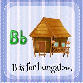 stock photo of letter b  - Flashcard letter B is for bungalow - JPG