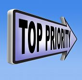 pic of priorities  - top priority important very high urgency info lost importance crucial information  act now or never  - JPG