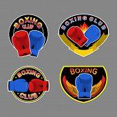 image of boxing  - Set boxing emblem - JPG